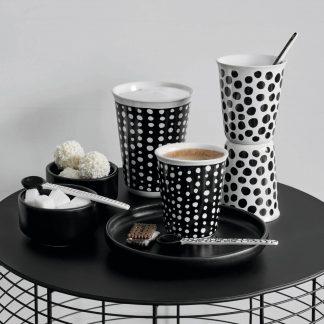 Cappuccino Cup COPPETTA ASA Punkte weiß | Punkte schwarz