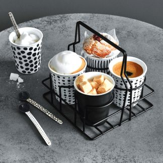 ESPRESSO CUPS 4er-pack  spots & stripes  ASA