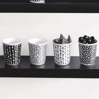 Espresso CUPS 4er-pack white spots & black spots ASA