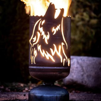 Feuerkorb HEULENDER WOLF H 60 cm