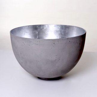 Pflanz & Dekoschale LENA grau silber  ø 44 cm