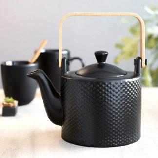 Teekanne mit Teesieb BLACK TEA ASA pikee 0,75 l