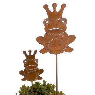 Gartenstecker FROSCHKÖNIG Rost H 26 cm