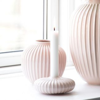 Kerzenleuchter HAMMERSHOI Kähler ø 11,5 cm rosé | weiss