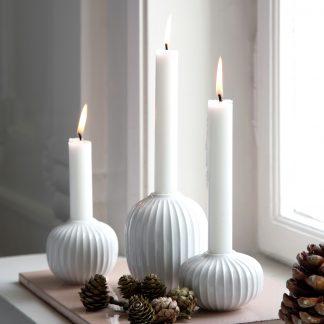 Kerzenleuchter HAMMERSHOI Kähler weiß H 10,0 | 6,5 | 5,5 cm
