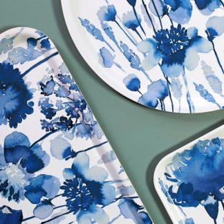 Tablett Bluebellgray CORRAN aus Birkenholz