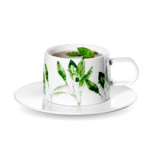 Teetasse mit Untertasse MUGA ASA Salbei