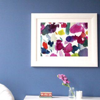 Wandbild Bluebellgray ABSTRACT