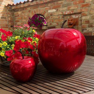 Bodenvase CARA Hochglanz rot H 80 | 100 cm