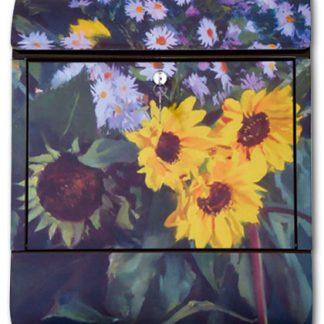 Briefkasten mit Klang Sonnenblumen DieBriefkastenfirma