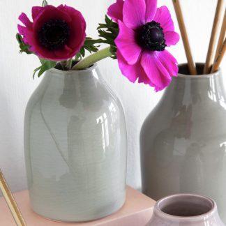 Ceramic Vase BOTANICA Kähler moosgrün H 35 cm