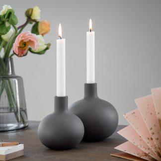 Kerzenständer GLOBO Kähler grau H 16,5 | 13,5 cm