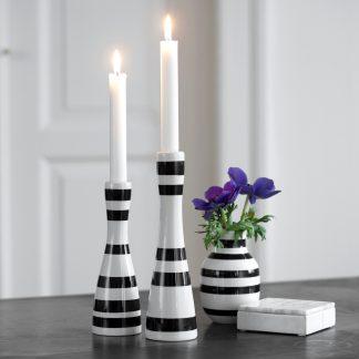Kerzenständer OMAGGIO Kähler schwarz H 16 | 20 cm