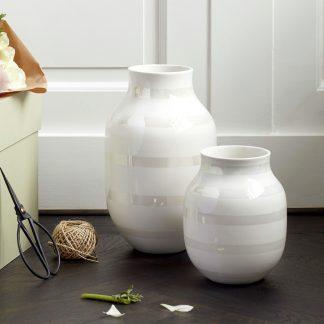 Vase OMAGGIO Kähler pearl H 30,5 cm