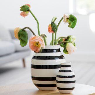 Vase OMAGGIO Kähler schwarz H 30,5 cm