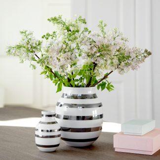 Vase OMAGGIO Kähler silber H 20 cm