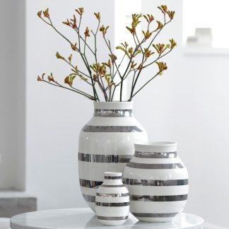 Vase OMAGGIO Kähler silber H 30,5 cm