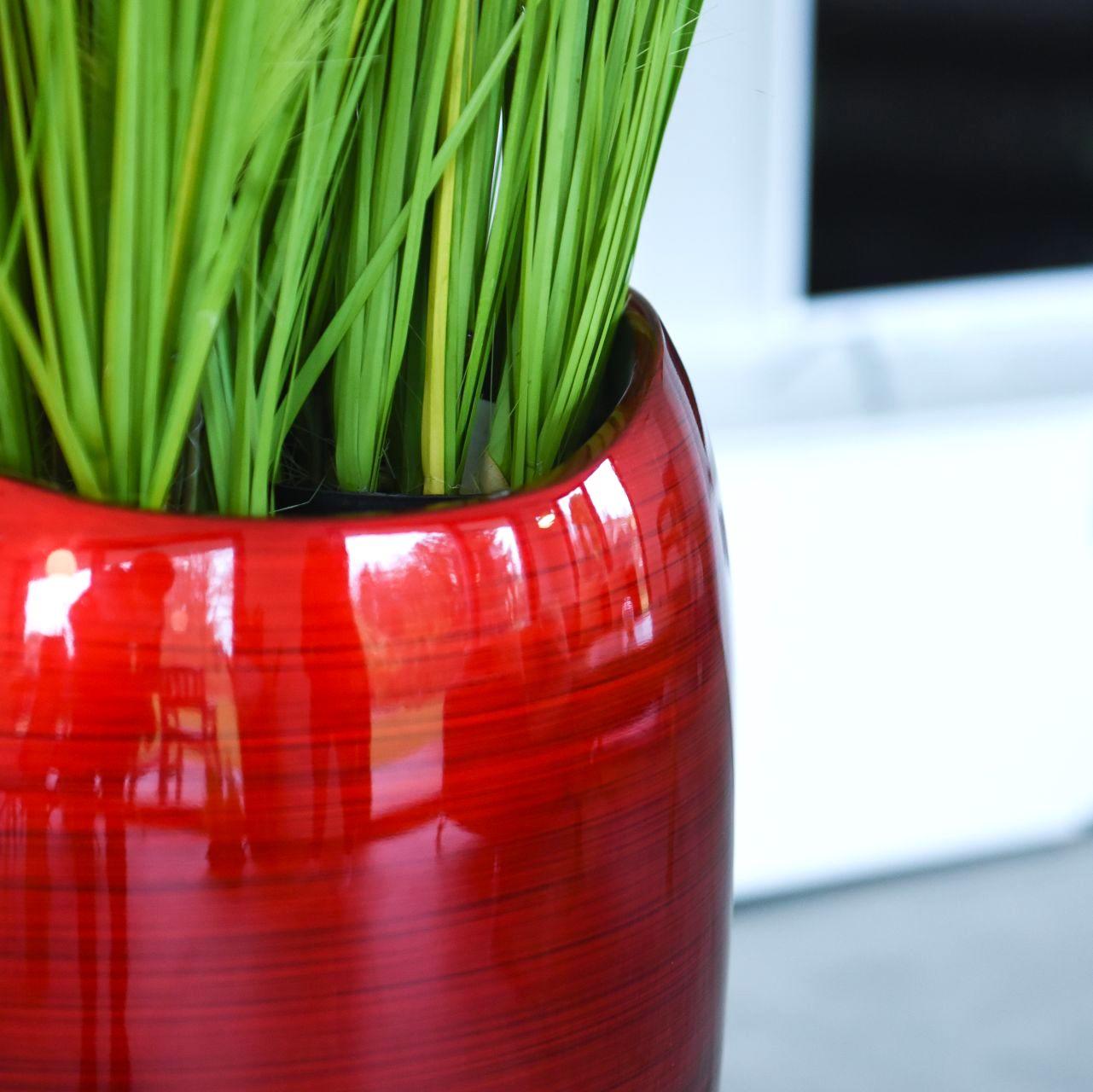 bodenvase caroline hochglanz rot h 81 100 cm l ster. Black Bedroom Furniture Sets. Home Design Ideas