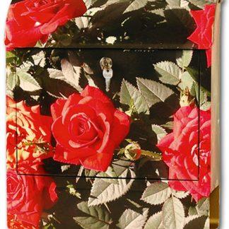 Briefkasten mit Klang Rote Rosen DieBriefkastenfirma
