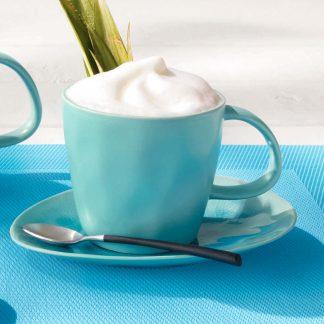 KAFFEETASSE ASA 0,18 l | Untertasse für Kaffeetasse 15,5 x 12 cm á la plage turquoise