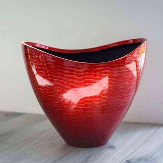 Dekoschale AMINA Hochglanz rot H 31 cm