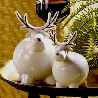 Keramik Elche  BRUNO & Eduard glänzend weiß H 17 | 11 cm