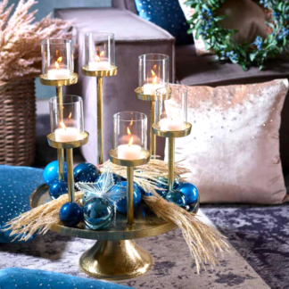 Kerzenständer Teelicht gold ø 57 cm