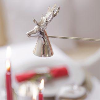 Kerzenlöscher HIRSCH versilbert anlaufgeschützt Edzard L 26 cm