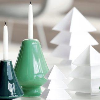 Kerzenleuchter AVVENTO Kähler grün H 13 cm