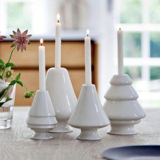 Kerzenleuchter AVVENTO Kähler weiß H 13  12   10,5   9,5 cm