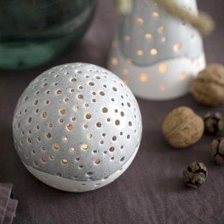 Teelichtleuchter NOBILI Kähler granitgrau H 30,0 | 25,5 |19,0 cm