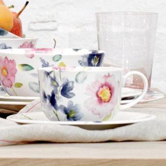 Teetasse Bluebellgray FLORRIE mit Untertasse (2-teilig)