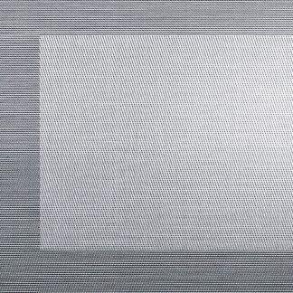 TISCHSET metallic ASA silber-schwarz 33 x 46 cm