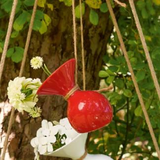 Tischvase LULU ASA rot H 10 cm