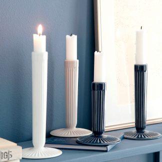 Kerzenhalter HAMMERSHOI weiß | indigo H 16 | 12 cm