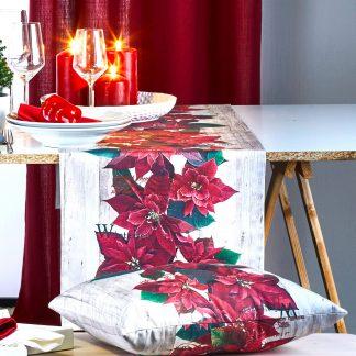 Tischläufer Apelt 2600 CHRISTMAS ELEGANCE rot 40x140 cm