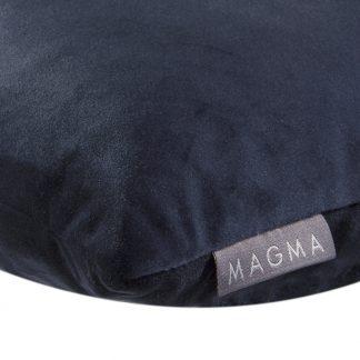 Dekokissen SAMT UNI dunkelblau Magma 50x50