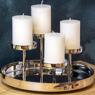 Kerzenständer | Kerzenhalter Adventskranz silber MARBELLA Edzard ø 31 cm