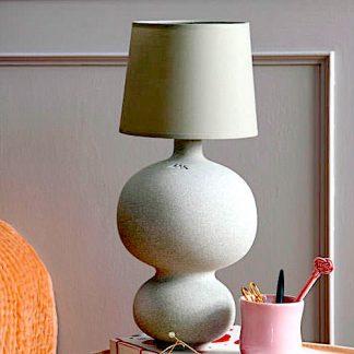 Lampe BALUSTRE Kähler H 47,0 cm staubgrün
