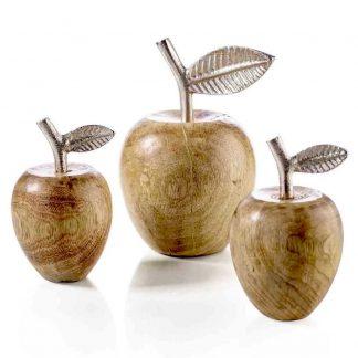 Holz Apfel JONA mit Aluminiumblatt