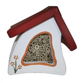 Insektenhotel TIERE DES WALDES Vogelvilla rot H 70 cm