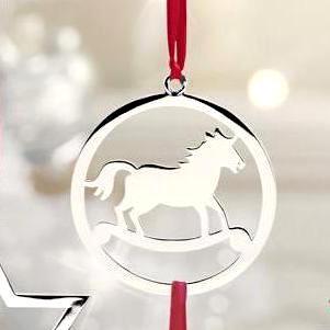 Baumschmuck Horse Edzard H 6 Cm Versilbert