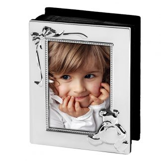 Kinder-Fotoalbum Edzard TEDDYBÄR 10x15 cm versilbert