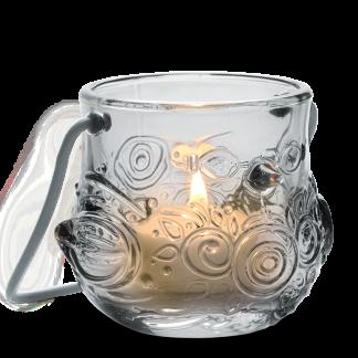 Teelichthalter VOGEL Björn Wiinblad H 7,0 cm smoke
