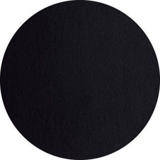 TISCHSET Lederoptik basalt ASA rund ø 38 cm schwarz