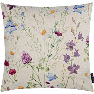 Kissen BLÜTEN Magma 50x50 - das farbenfrohe Dekokissen passt wunderbar auf Ihr Sofa. Ideal in Kombination mit den passenden Tischläufer.