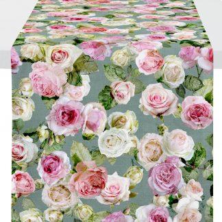 Tischläufer Apelt 1624 SUMMER GARDEN 48x140 Rose rosa