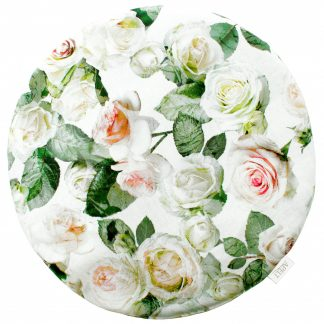 Stuhlkissen SUMMER GARDEN 1624 Apelt 38x38 Rose weiß