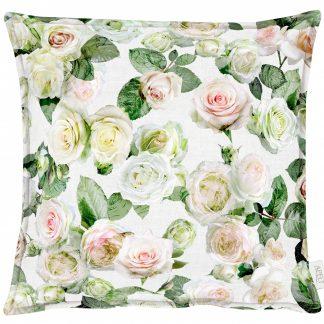 Kissenhülle Apelt 1624 SUMMER GARDEN 49x49 Rose weiß