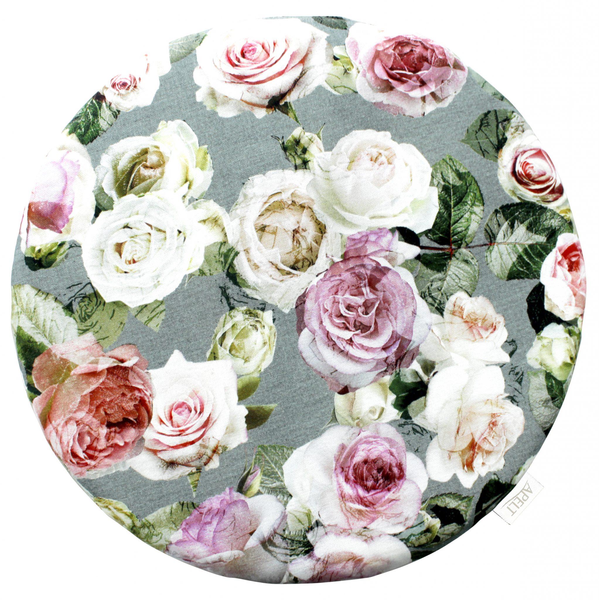 Stuhlkissen SUMMER GARDEN 1624 Apelt 38x38 r Rose rosa